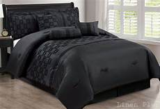 modern flocked comforter black sheet curtain set queen cal