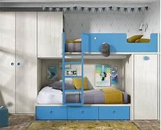 Children S Bedroom With Bunk Bed Wardrobe And Desk