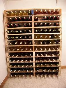 Wine Rack Out Of Pallets Drinks And Eats