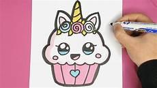Bilder Zum Nachmalen Kawaii Einhorn Cupcake Malen Kawaii Bilder