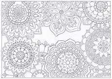 mandala flowers coloring page favecrafts