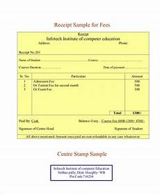 fees receipt 39 receipt formats free premium templates