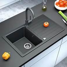 Spülbecken Schwarz Granit - bergstroem granite kitchen built in sink reversible