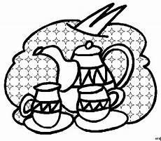 Malvorlagen Tassen Kostenlos Tassen Mit Teekanne Ausmalbild Malvorlage Mode Und Kunst