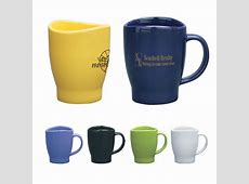 Customized 14 oz. Wave Coffee Mug   Promotional Ceramic