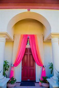 image result for metallic tulle front entrance decoration