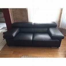 canap 233 cuir noir roche bobois achat vente de mobilier