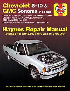 car engine repair manual 2004 chevrolet s10 lane departure warning chevy s10 sonoma blazer jimmy bravada repair manual 1994 2004