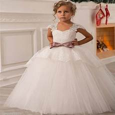 2017 new wedding party formal flowers girl dress baby pageant dresses birthday cummunion toddler