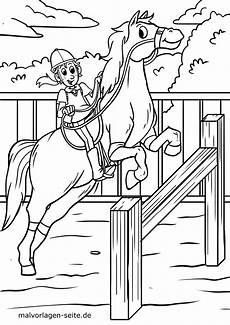 malvorlage pferd springreiten kostenlose ausmalbilder