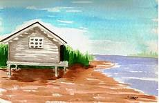 easy watercolor paintings soundside cabana landscape drawing easy easy landscape paintings