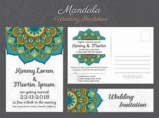 traditional postcard template classic vintage wedding invitation card design with