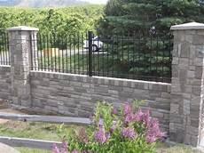 Combining Iron Aluminum Fence With Brick Or Wood