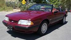 1988 ford mustang 5 0 lx convertible 1 owner youtube