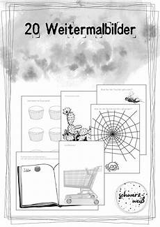 20 weitermalbilder unterrichtsmaterial in den f 228 chern