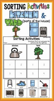sorting worksheet for preschool 7915 sorting activities posters and worksheets kitchen and yard kindergarten teachers sorting