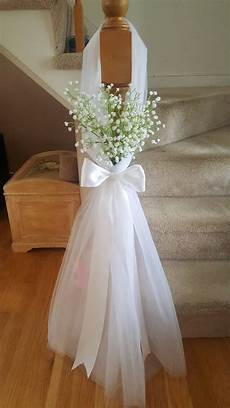 aisle pew decor tulle and baby s breath set of 10 in
