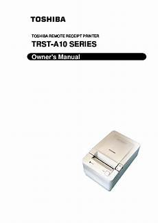 toshiba trst a10 remote receipt printer owners manual
