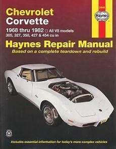 car repair manuals online free 1968 chevrolet corvette on board diagnostic system 1968 1982 chevrolet corvette haynes repair manual