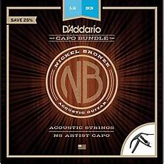 guitar strings 12 53 d addario nb1253 nickel bronze acoustic guitar strings light 12 53 and ns artist capo