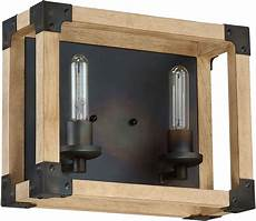 craftmade 41502 fsnw cubic contemporary fired steel natural 2 light bathroom lighting