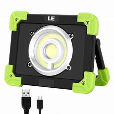 le 20w led portable work light rechargeable cing