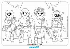 coloring sheet playmobil ghostbusters team get coloring
