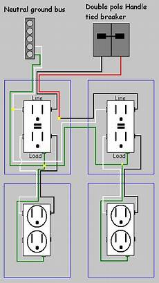 electrical how do i install a gfci receptacle with two wires and common neutral home