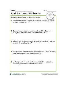word problems worksheets addition 10958 1st grade math worksheets free printables education