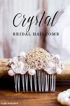 diy bridal crystal hair comb step by step consumer crafts