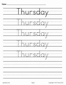 cursive handwriting worksheets days of the week 21350 7 free days of the week handwriting worksheets printable handwriting worksheets handwriting