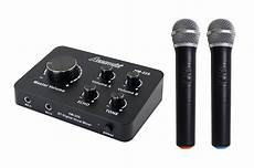 Dual Microphone Input Remote Bluetooth by Acesonic Hm 225 Hdmi Karaoke Mixer With Dual Uhf Wireless
