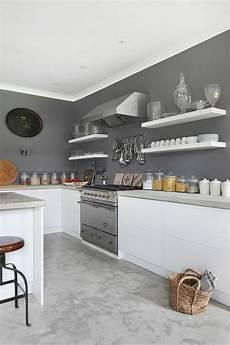 D 233 Co Salon Peinture Murale De Cuisine Grise Et Blanche