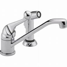 delta kitchen faucet warranty delta 175lf wf chrome classic kitchen faucet with side spray includes lifetime warranty