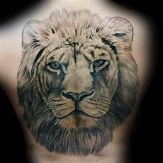 50 lion back tattoo designs for men masculine big cat