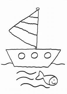 Malvorlage Schiff Einfach Basteln Mit Kindern Kostenlose Bastelvorlage Vatertag
