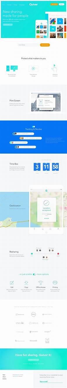 Quiver Malvorlagen Ui Quiver Landing Page Design Inspiration Flat Web Design