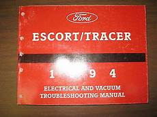 vehicle repair manual 2002 ford escort security system 1994 ford escort evtm wiring manual ebay