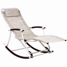 rocking chair de jardin en aluminium et textil 232 achat