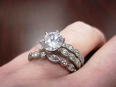 show me your engagement ring wedding band and eternity