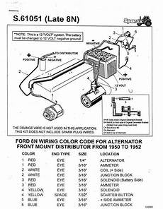 Wiring Diagram For 12 Volt Conversion Of Alternator On Ferguson To 30 by Ford 8n Side Dist 12 Volt Wiring Harness For 12v