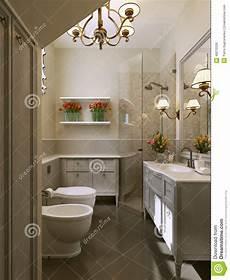 nel bagno bagno nel bagno classico di style illustrazione di stock