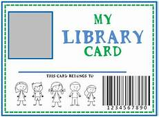 card template preschool family library diy pretend library card she