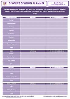 divorce worksheets clarity road