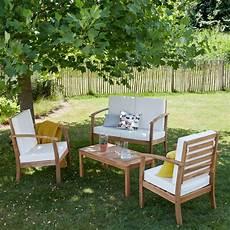 meuble jardin pas cher salon bas de jardin en bois d acacia bois dessus bois