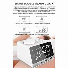 Display Dual Alarm Clock Dual Units by Led Display Dual Alarm Clock Dual Units Wireless Bluetooth
