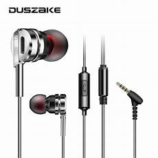 Augienb Wired Earphone Stereo Bass by Metal Wired Headphones Hifi Stereo Bass In Ear Earphones