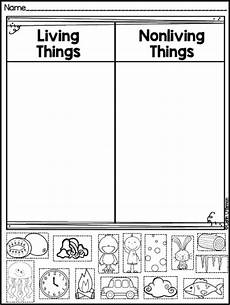 sorting living things worksheets 7894 freebie living and non living things sort classroom kindergarten school and