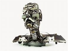 awesome typewriter assemblage re assemblage bust v grandfather 22 x11 x17