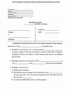 printable online nevada divorce papers instructions